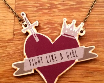 Fight Like a Girl - Necklace