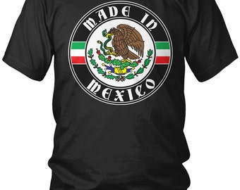 Made in Mexico Men's T-Shirt, United Mexican States, Mexican Pride, Mexico City, Country Flag Crest, Men's Mexico Shirts AMD_2099