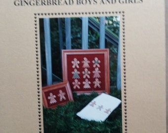 Watercolour Gingerbread Boys and Girls - Cross Stitch Sekas and Co, S&C-47