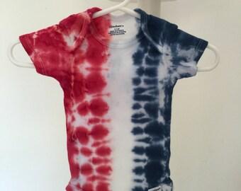 Tie dye infant onsie
