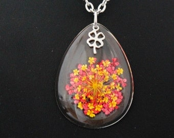 Flower chain, talisman, lucky charms, gift for women, flower chain, flower necklace