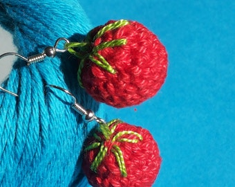 Strawberry, cherry, floral earrings.  7 euro for a couple