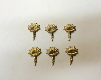 Brass Stamping - Brass Morning Glory, Small - Set of 6