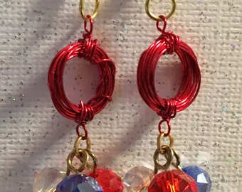 July 4th Earrings