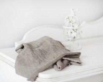 Natural Linen knitted blanket - Linen Baby blanket - Newborn blanket - Baby shower gift - Strollers blanket