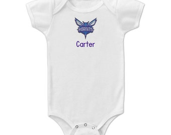 Personalized Charlotte Hornets Baby Bodysuit