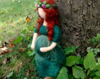 Pregnant Mother Earth (needle-felted)