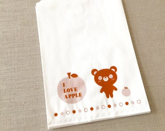 50% OFF CLEARANCE SALE - 20pcs Bear Paper Gift Bags - Paper Bags - Favor Bags - Party Paper Bags - 16 x 21.5cm (was 4.20)