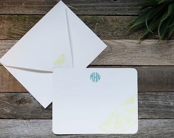 Lemon Wedge Personalized Stationery Set