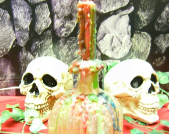 Wax dripped candle bottle