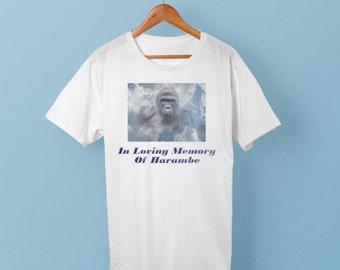 Harambe shirt - RIP Harambe - In Loving Memories of Gorilla - #dicksoutforharambe