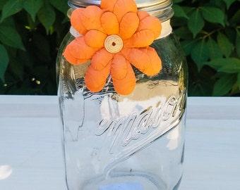 Quart Bicentennial Clear Mason Jar Vase
