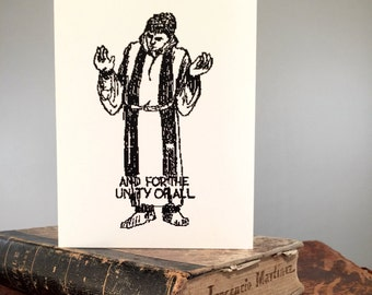 Set of 8 Funny Religious Birthday Card - Raise the Roof - Snarky Greeting Card
