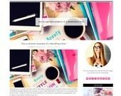 Responsive Wordpress Theme - Genesis Child Theme - Kate - Wordpress Template - Wordpress Blog - Blog Design