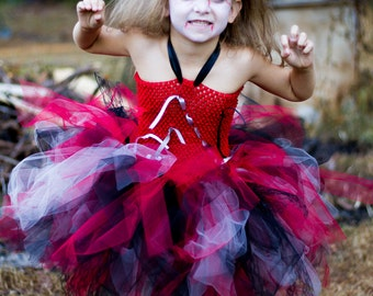 Halloween Zombie costume // Halloween zombie tutu dress // zombie walker Halloween costume // Halloween costume // monster costume