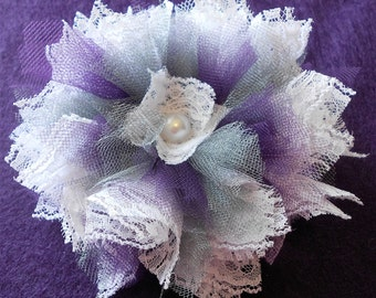 Grey Plum and Lace Flower