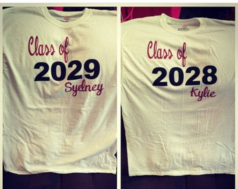 Class of T-Shirts Personalized