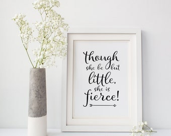 Empowerment, Strong women, Art, Shakespeare quotes, Literary gifts, Niece gift from aunt , Literary nursery art, Fast shipping to USA
