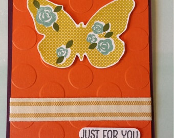 Just for you Butterfly Card