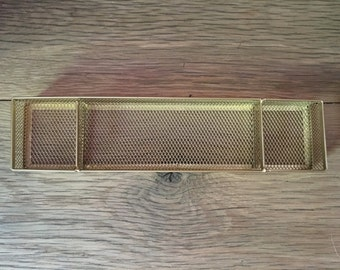 Golden Desk Organizer