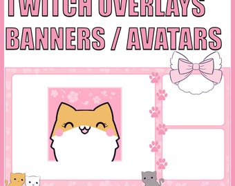 Custom Twitch Graphics - Overlays, Info Panel Banners, and Avatars