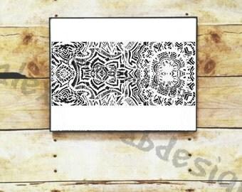 black and white,print,mandala,art,blackandwhite,original print, prints,wall art,zentangle,zen,boho,bohochic,design