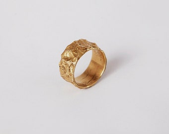 Bright ring from brass