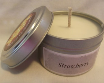 STRAWBERRY 6oz Soy Candle