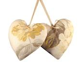 Heart Door Hangers  Laura Ashley Hydrangea camomile fabric