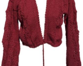 Romantic bolero jacket with Ajoureinsätzen - Cardigan