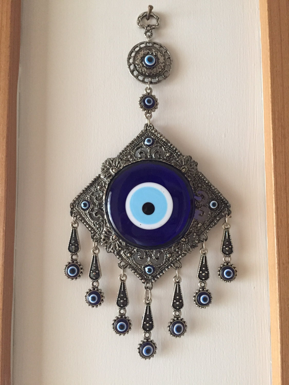 bedroom wall decor with evil eye
