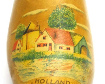 Souvenir Wooden Clog Money Box Holland Vintage
