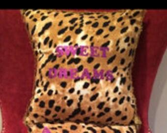 animal print pillow shams