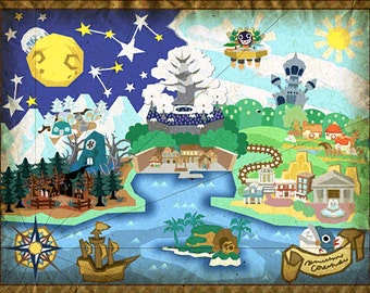 Paper Mario: The Thousand-Year Door Map Poster