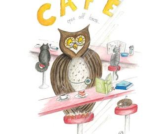 The Night Café – Owl & Friends