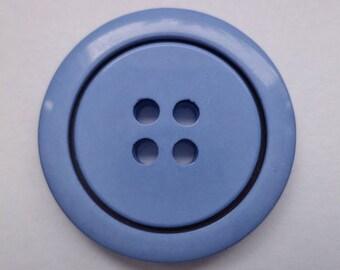 10 big blue buttons 26mm (2248)
