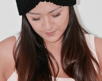 Knit  Turban Twist Headband/ black