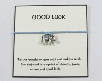 Elephant wish bracelet, elephant bracelet, make a wish bracelet elephant charm, elephant jewelry, friendship bracelet, string bracelet. BFF