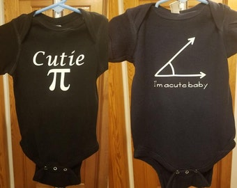 Math Baby Gift Set - Cutie Pi & Acute Baby