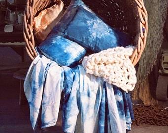 Bedlinen Organic Hemp cotton flat bedsheet, handmade, allergy friendly, indigo, single, double, queen, king, neem, heirloom, eco, bed sheet