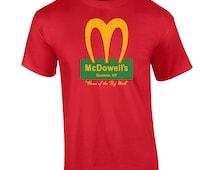 McDowells funny 80s movie big mick coming comedy america costume queens retro vintage - Apparel Clothing - Mens T-shirt - 192