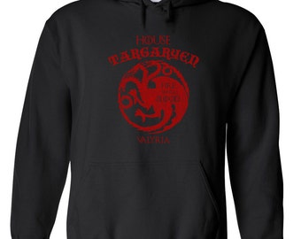 House Targaryen funny fantasy dragon game king thrones fire and blood college party - Apparel Clothing - Hoodie - Hooded Sweatshirt - 050