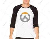 Unisex - Premium Retail Fit Overwatch Classic Baseball Tee, Crew-neck Tee, T-Shirt, Blizzard Overwatch GOTY 2016 Gaming Tee! (S,M, L, XL+)
