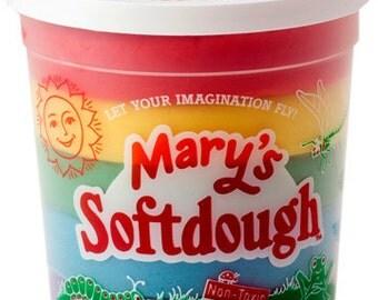Creative Natural Children's Play Dough, 18 oz Rainbow Tub
