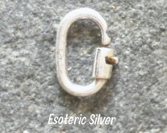 1 Sterling silver Locking Link 4.5mm.