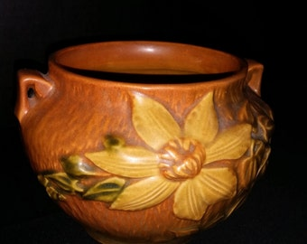 Roseville Pottery Clematis Bowl