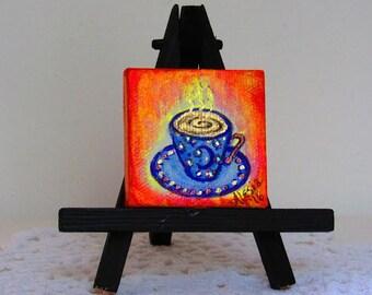 tiny blue moon teacup