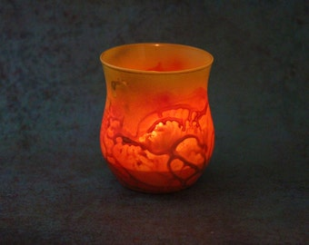 Red Lava Candle Holder