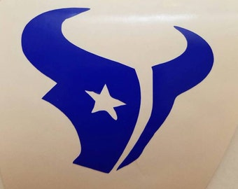 Texans Football Decal - permanent vinyl - perfect for Yeti & Rtic cups, coolers, windows, man cave decor etc.