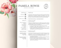 Unique creative resume related items | Etsy Creative Resume Template, Creative Resume Design, Resume Template Word, Resume Cover Letter,